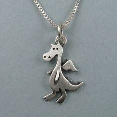 Dragon necklace by StickManJewelry on Etsy