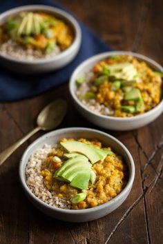 Yellow Split Pea Coconut Breakfast Porridge | The Full Helping