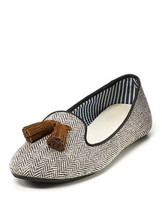 """Charles Philip """"Sophie"""" Herringbone Loafers; I will take these in every color, actually."""