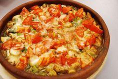 Turks stoofpotje met kipfilet, paprika,champignons en kaas
