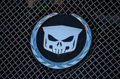 Wreath and Skull Cadillac Emblem Overlay
