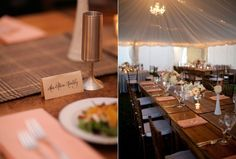 Farm tables are a MUST for a Maine barn wedding. Photo by Meredith Perdue www.realmaineweddings.com
