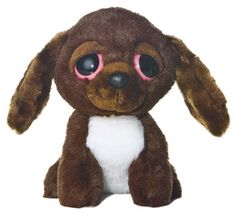 "6"" Aurora Plush Puppy Dreamy Eyes Brown Dog ""Charlie"" Stuffed Animal Toy NEW #Aurora #DreamyEyes"