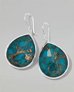 Ippolita Wonderland Turquoise Teardrop Earrings - Neiman Marcus $550