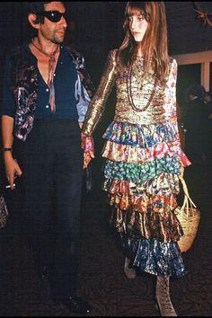 Style icons boho jane birkin ideas for 2019 Serge Gainsbourg, Charlotte Gainsbourg, Gainsbourg Birkin, Lou Doillon, Style Jane Birkin, Trendy Fashion, Vintage Fashion, Fashion Outfits, Peek A Boo