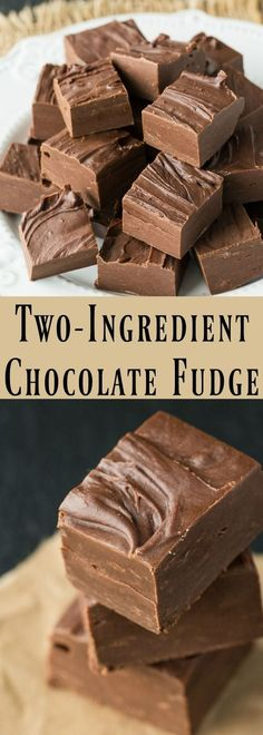 So easy and delicious! Quick 2-ingredient chocolate fudge that's perfect for dessert or an afternoon snack. Ready in minutes, you have GOT to give this a try! Make sure to save it to your dessert board for later!