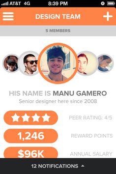 Design team #app #profile #interactive