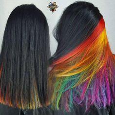 @hairbykaseyoh Normal hair Fun colors!!http://www.qunel.com/ fashion street style beauty makeup hair men style womenswear shoes jacket
