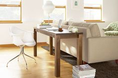 Small space Feng Shui office solution! A wonderful desk position that also puts you in the command view of the room.