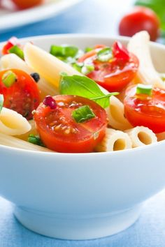Course(s): Entrée; Ingredients: avocado, chicken breast, coriander, lime juice, low-fat mayonnaise, penne pasta, plum tomato, red onion, salt