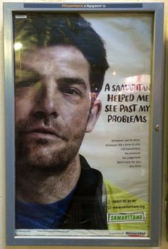 Another poster from Samaritans spotted after leaving work at Charing Cross the other day. #samaritans #charity #advert