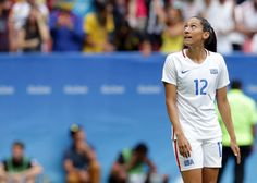 Christen Press after missing her penalty kick vs. Sweden, Aug. 12, 2016. (Eraldo Peres/AP)