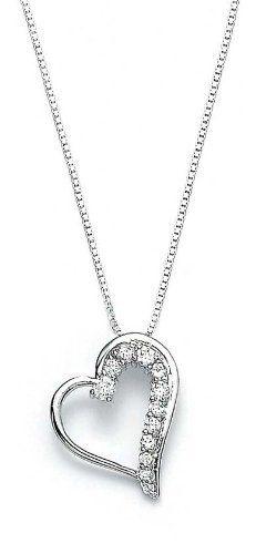 Sterling Silver Cubic Zirconia CZ Heart Pendant - JewelryWeb JewelryWeb. $50.30. Save 50% Off!