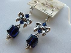 Swarovski Cube Earrings Swarovski Crystal by SereneGarlands, $26.00