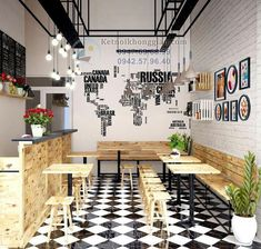 : Home Decoration For Wedding - - Small Restaurant Design, Deco Restaurant, Small Cafe Design, Restaurant Interior Design, Cafe Shop Design, Coffee Shop Interior Design, Bar Interior, Bakery Design, Juice Bar Design