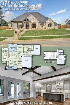 Architectural Designs Craftsman Plan 60699ND | 4 - 5 beds | 3.5+ baths | 2,600 Sq.Ft.+ | Ready when you are! Where do YOU want to build? #60699ND #adhouseplans #architecturaldesigns #houseplan #architecture #newhome #newconstruction #newhouse #homedesign #dreamhouse #homeplan #architecture #architect #houses #homedecor #kitchen #greatroom #kitchendesign #craftsmanhome #craftsmanstyle #southerliving #europeandesign