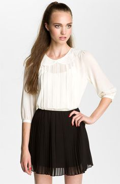 Lush Pintuck & Lace Blouse (Juniors) available at #Nordstrom