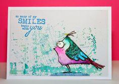 """Cards by Maaike: CAS(E) this Sketch #120  Tim Holtz's """"Crazy Birds""""."""