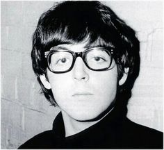 Paul McCartney with adorable glasses