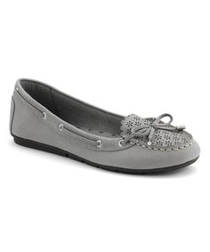 This Gray Perforated Isla Leather Flat by Sperry Top-Sider is perfect! #zulilyfinds