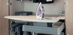 Bügelbrett Ironfix für Montage in Schubkasten