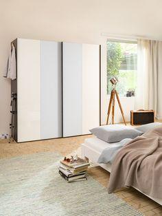 Micasa Schlafzimmer mit Schwebetürenschrank ORSON, individuell zusammenstellbar Divider, Modern, Room, Furniture, Home Decor, Home, Walk In Wardrobe Design, Dressing Room, Bedroom