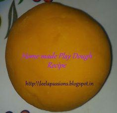 Recipes : Homemade Play Dough for Medha