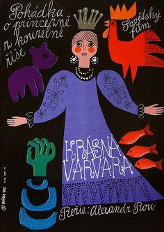 czechoslovakian film poster byKrásná Varvara, 1969(via maraid)