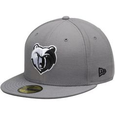a51064e0731 Details about New Era Memphis Grizzlies 59Fifty NBA Gray Fitted Hat Size 7  1 8