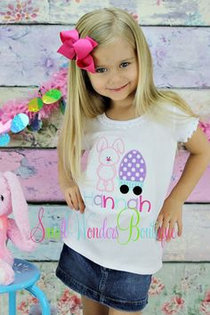 Easter Embroidered Shirt Bunny Egg Wagon Shirt  by smallwonders00, $22.00