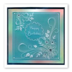 Tina's Floral Swirls & Corners 2 A4 Square Groovi Plate Clarity Card, Parchment Design, Parchment Cards, Butterfly Template, Cardmaking And Papercraft, Paper Embroidery, Birthday Cards For Men, Card Patterns, Paper Cards