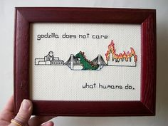 Godzilla does not care.