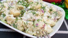 După un meniu încărcat al sărbătorilor de iarnă, ce poate fi mai indicat decât o salată ușoară. Noi vă punem la dispoziție o salată delicioasă de conopidă. Cunoscând proprietățile vitaminoase ale conopidei, recomandăm această salată ca una perfectă pentru sezonul de după sărbători, fiind mult mai gustoasă ca salata Boeuf. Este ușor de preparat și … Romanian Food, Potato Salad, Healthy Life, Vegetarian Recipes, Food And Drink, Lunch, Mai, Cooking, Ethnic Recipes