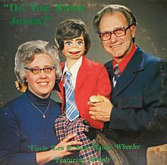 What is it about evangelists and their puppets? I've seen at least half a dozen album covers with the same theme.