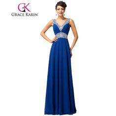 Spaghetti Strap Bridesmaid Dresses Grace Karin 2017 Floor Length Long Sequins Brides Maid Dresses Robe De Mariee Royal Blue
