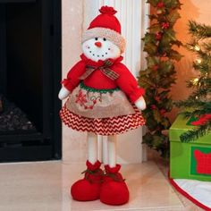 Plush Girl Snowman, 23 in.This adorable Plush Girl Snowman is ready to bring festive, holiday cheer to…christmas woodland snowman ready to ski decoration - PIPicStatsBrighten your home with cheerful Christmas home decor from Kirkland's. Christmas Sewing, Christmas Fabric, Christmas Wood, Christmas Snowman, Christmas Ornaments, Christmas Stockings, Christmas Holidays, Indoor Christmas Decorations, Snowman Decorations