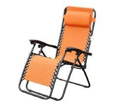 Outsunny Zero Gravity Recliner Lounge Patio Pool Chair, Orange