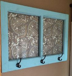 Four different weays to upcycle old window frames. Although the tutorials aren't included it's fun to see the inspiration. Especially like this teal blue frame repurposed as a unique coat rack.