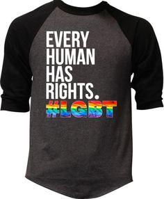 Bisexual Pride, Gay Pride, Lgbt, Pride Outfit, Pride Shirts, Raglan Shirts, Dress Codes, Human Rights, Deodorant