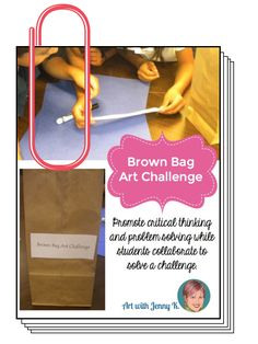 Get kids collaborating with the Brown Bag Art Challenge! Free download.