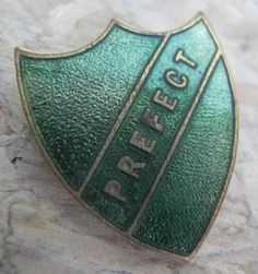 Prefects at school - never made it to one of these, but was a stair monitor for a year & loved being bossy!!!!