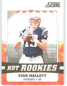 2011 Score Hot Rookies 23 Ryan Mallett - New England Patriots (Rookie Insert) (Football Cards) * This is an Amazon Affiliate link. Check this awesome product by going to the link at the image.
