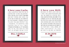 This Typographic Art Print Showcases The Couples Favorite Song Lyrics Poem Or Marriage Vows Makes A Perfect Gift For Weddings Showers And