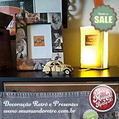 Muito mais das novidades @seumundoretro para você! Luminárias, miniaturas, porta-retratos e muito mais estão disponíveis para decorar seu ambiente preferido ou presentear com muito bom gosto quem você ama.  Inove nas escolhas, venha pra cá! Emoticon smile   #seumundoretro #retro #mimos #gifts #decor #decoração #details #detalhes #miniaturas