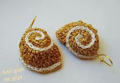 Σκουλαρίκια σε πραγματική απόδοση σχήματος κοχυλίου, με επίχρυσα κλίπς. Earrings seashell 3d shape, with gold plated clips. #από_χέρι_σε_χέρι #πλεκτό_κόσμημα #Κλεοπάτρα_Χρήστου #πλεκτο #κοσμημα #σκουλαρίκια #χειροποιητακοσμηματα #χειροποιητο #γυναικα #μοδα #δωρο #τεχνη #αξεσουαρ #crochetjewellery #woman #handmade #crochet #fashion #accessories #style #art #gift #girl #love #colorful #wearit #Greece #jewel #crochetearrings #lookoftheday Crochet Earrings, Jewelry, Fashion, Moda, Jewlery, Jewerly, Fashion Styles, Schmuck, Jewels