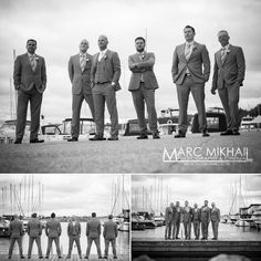 Marc Mikhail Photography | And then there were three… | http://www.takenbymarc.com #marcmikhailphotography  #takenbymarc #groom #groomsmen #photography #blackandwhitephotography #wedding #weddingphotography #weddingphotographyideas  #Toronto #Hamont #Hamilton #handsome #Nautical #waterfront