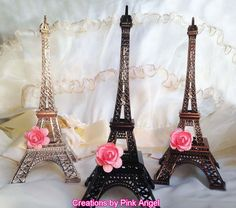 $10/ 10in This listing is for 1 Metal Eiffel Tower Centerpiece, Cake Topper. Great for your Paris Wedding, Bridal Shower, Baby shower, or any other