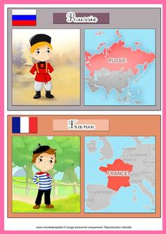 SGBlogosfera. María José Argüeso: LES PAYS DU MONDE Around The World Theme, Holidays Around The World, Montessori, World Thinking Day, Home Schooling, English Lessons, World Cultures, Colorful Pictures, Activities For Kids