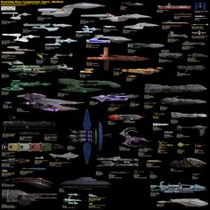 Sci-Fi Starship Size Comparison » Star Trek Minutiae