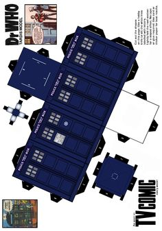 Make your own #TARDIS! #DoctorWho #DIY #crafts